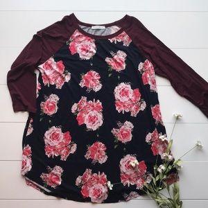 Reborn J the Plus- XL floral tunic- 3/4 length